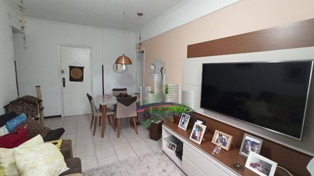 Apartamento com 2 dormitórios à venda, 74 m² por R$ 350.000,00 - Campo Grande - Santos/SP - Foto 3