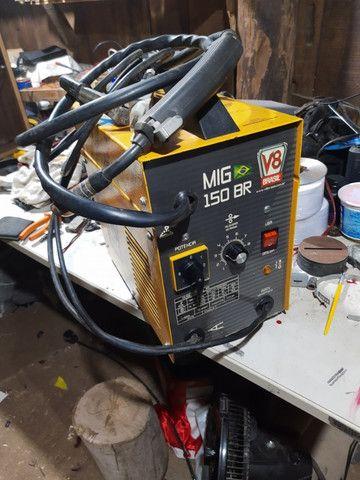 Máquina solda Mig sem gás V8 - Foto 3