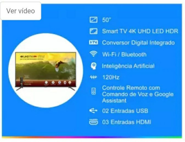 Smart TV 4K LED 50 SEMP TCL 50P8M Android Wi-Fi - - Foto 4