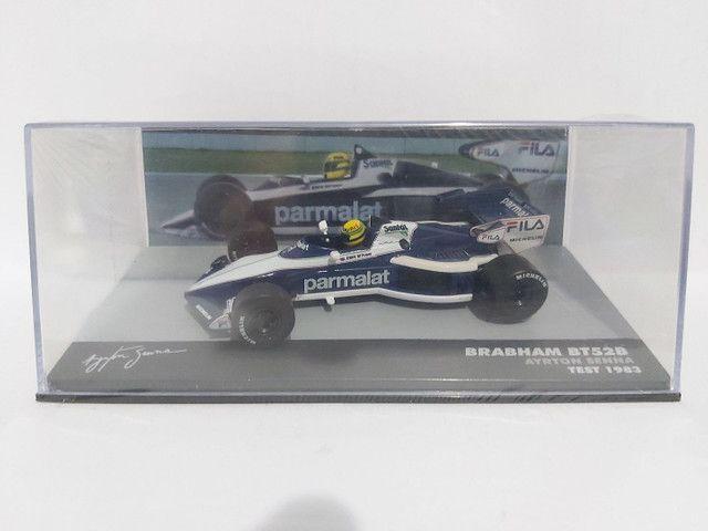MINIATURA F1 BRABHAM BT52B AYRTON SENNA - TEST GP 1983