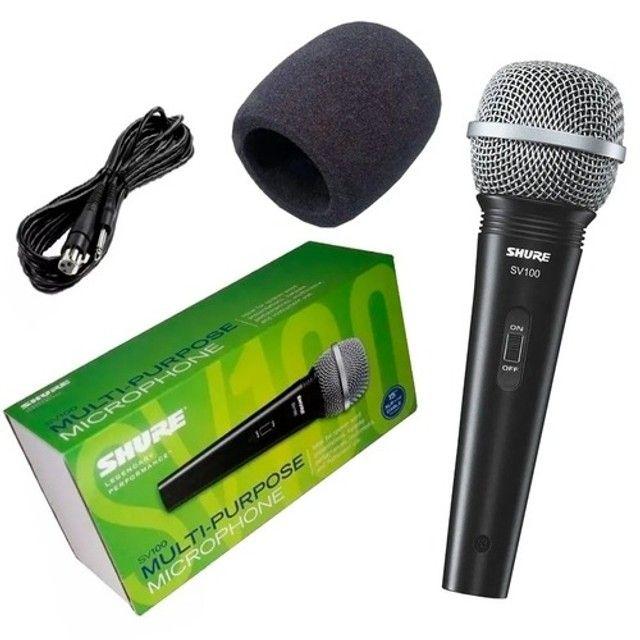 Microfone Dinâmico Shure SV100 Com Cabo. Original. Novo. Garantia 1 Ano. - Foto 3