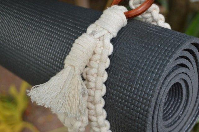 Alça Artesanal Tepetinho Yoga/pilates/ginastica Em Macramê ( novo) - Foto 5