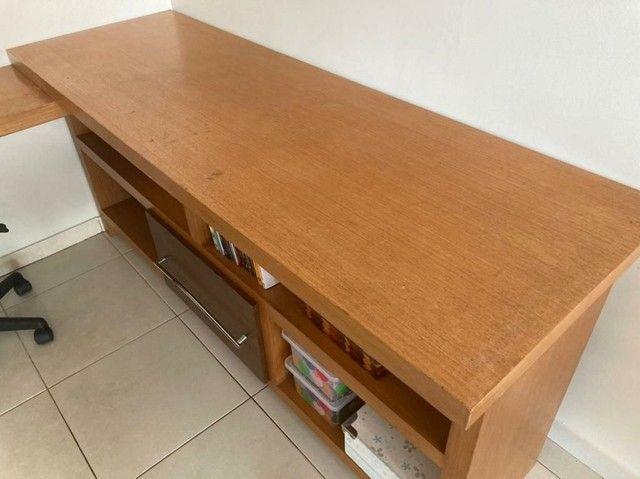 Escrivaninha de madeira (Para trabalho e/ou estudos)  - Foto 6