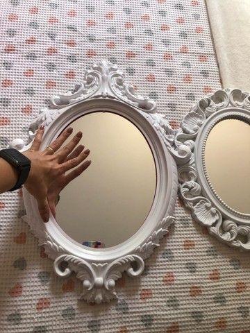 Espelhos decorativos os dois por R$70,00