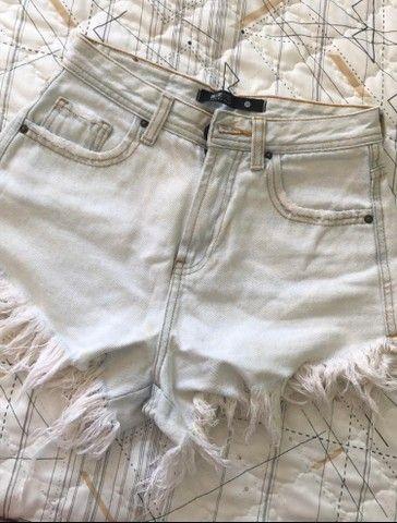 Vendo Shorts jeans seminovos - Foto 3