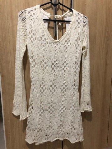 Vestido crochê marca CANAL tamanho P