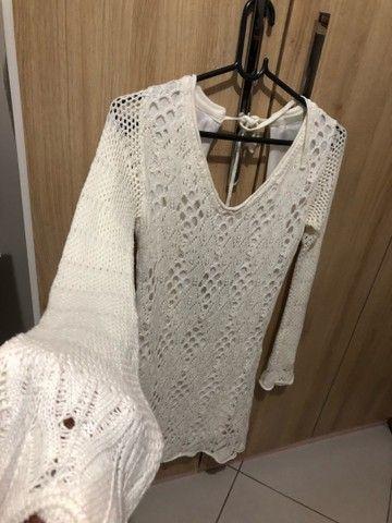Vestido crochê marca CANAL tamanho P - Foto 4