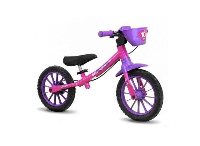 Bicicleta infantil aro 12 s/pedal - Foto 2