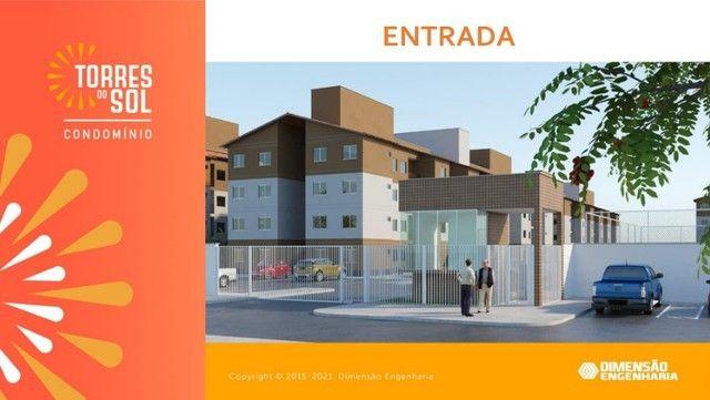 com apartamento de 44m², condomínio torres do sol, 2 quartos