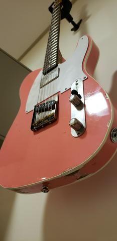 Lsl Instruments Bad Bone Telecaster Shell Pink