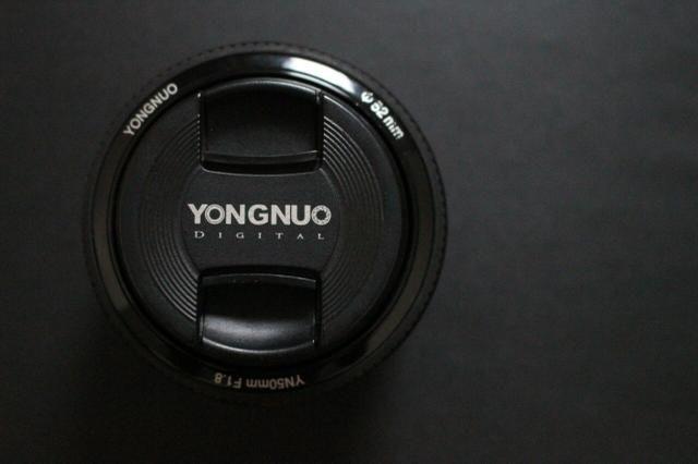 Lente yongnuo 50mm canon