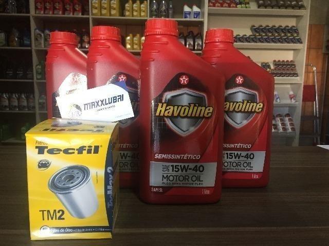 Lubrificante Havoline 15w40(Semissintético) + Filtro Óleo