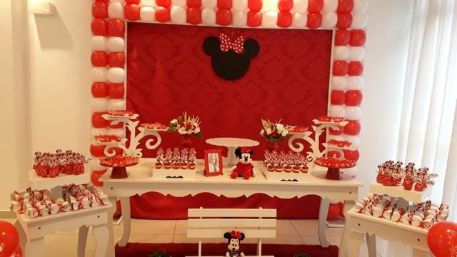 Mesa Minnie vermelha