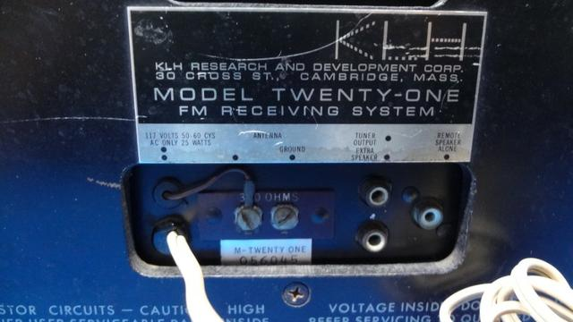 Radio Klh Model Twenty-one (21) Fm Radio (1965) - Foto 5