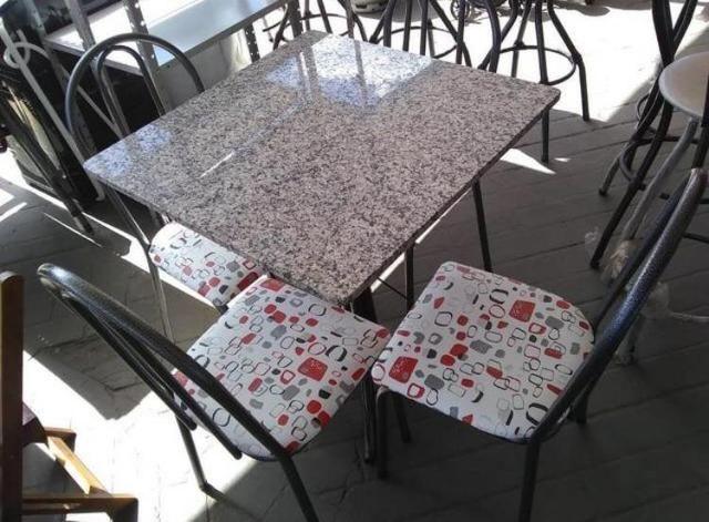 Mesa em granito 4 cadeiras, Nova - Foto 3