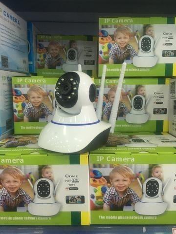 Câmera IP 3 Antenas Wifi Visão Noturna Infravermelho - Foto 2
