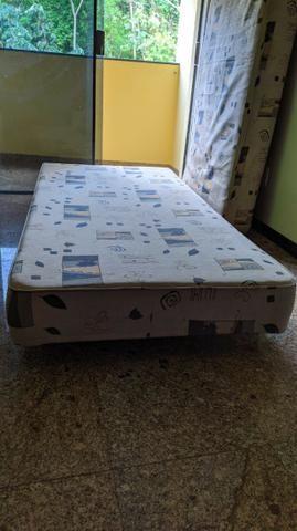 Cama BOX Com Colchão Solteiro - Molas Bonnel - Foto 3