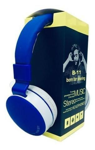 Fone De Ouvido Wireless Bluetooth Micro Sd Fm B11 - Foto 5