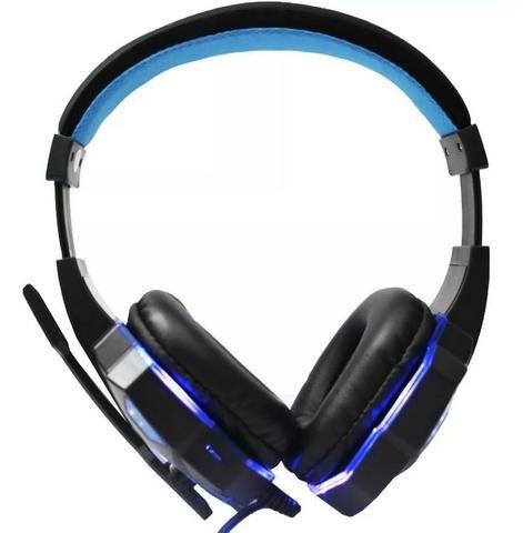 Headphone Gamer com Led e fio corda - Foto 4