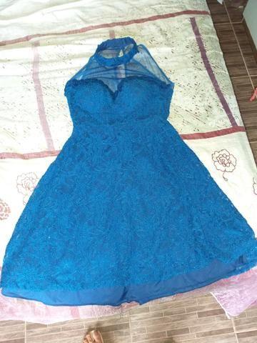 Vestido azul de festa - R$60,00 PRA VENDER AGORA - Foto 2