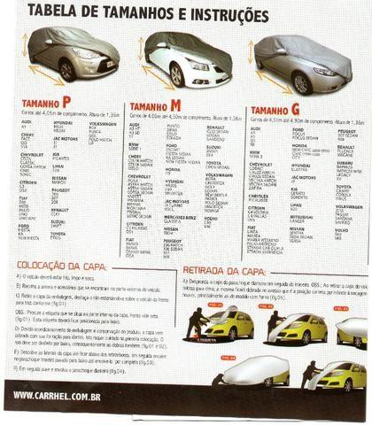 Capa Cobrir Carro Contra Sol E Chuva M, G (Leia o anúncio) - Foto 3