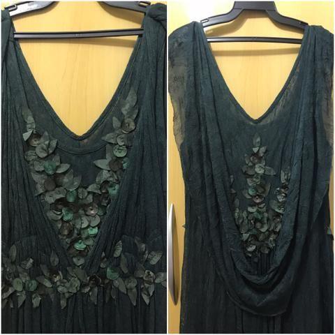 5e4637e418e0f Vestido festa longo tecido fino verde - Roupas e calçados - Jardim ...