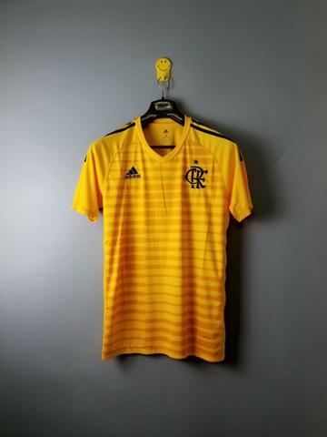 e5b5ac9e22 Camisa Adidas Flamengo de Goleiro Amarela M - 2018 - Esportes e ...