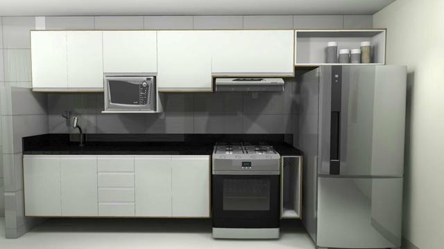 Apartamento para estudante e solteiros. Entrega Cozinha com modulados - Foto 7
