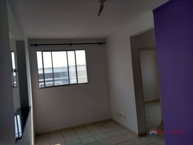 Apartamento com 2 dormitórios para alugar, 45 m² por R$ 650,00/mês - Residencial Ana Célia - Foto 3
