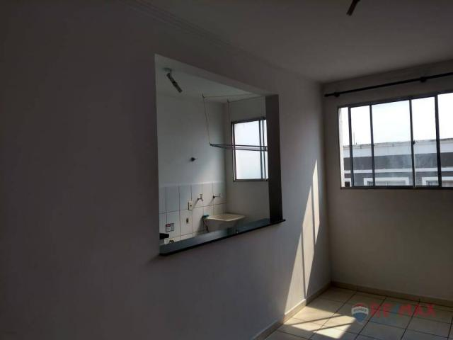 Apartamento com 2 dormitórios para alugar, 45 m² por R$ 650,00/mês - Residencial Ana Célia - Foto 2