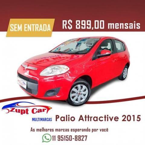 Fiat Palio Attractive 2015 Sem entrada carro apra aplicativo 99 uber pop