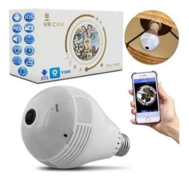 Lâmpada LED Câmera WIFI 360º