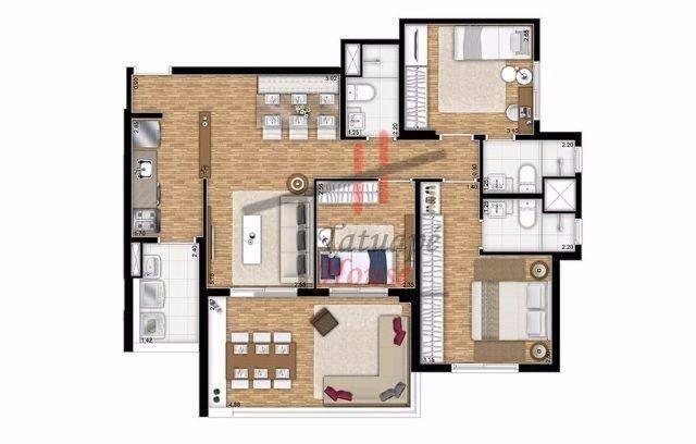 Apto Tatuapé 91 m2 (3 dorm 2 suites 2 Vagas Garagem Ampla Varanda Ótima Localização - Foto 10