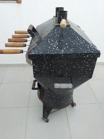 Churrasqueira Apolo 10 Esmaltada Preto Granito - Foto 2