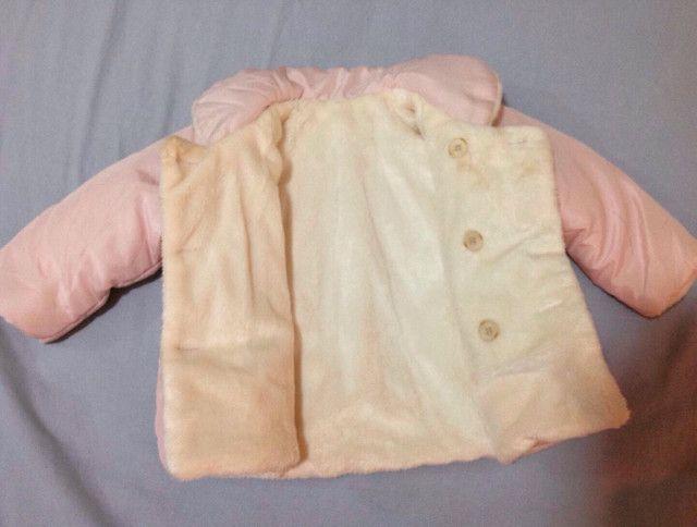 Jaqueta nylon, forrada tam 3-6 meses (M) - Foto 2