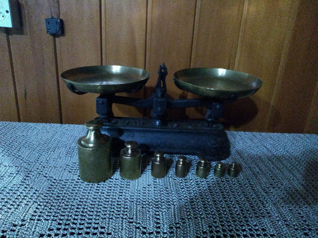 Balança antiga original com pesos !!! - Foto 3