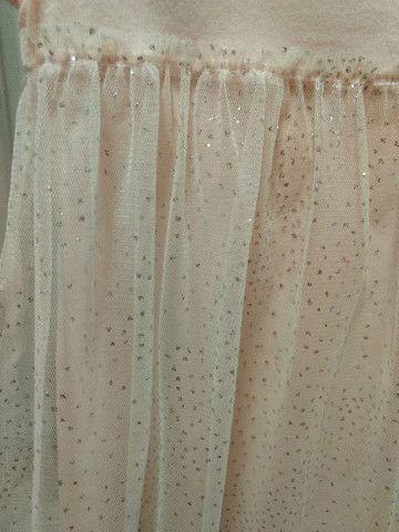 Vestido Tam 2 com brilho - Foto 2
