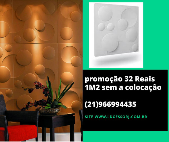 Promoção imperdível placas de gesso 3D direto da fábrica  - Foto 2