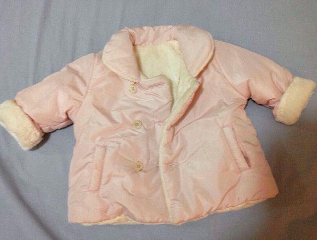 Jaqueta nylon, forrada tam 3-6 meses (M)