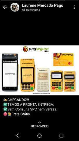 Máquina de cartão da PagSeguro aceita débito e crédito e refeição  - Foto 4