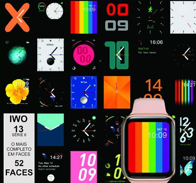 Relógio Smartwatch Iwo 13 i8 Pró Totalmente à prova d'água GPS 52 Faces Lançamento - Foto 5