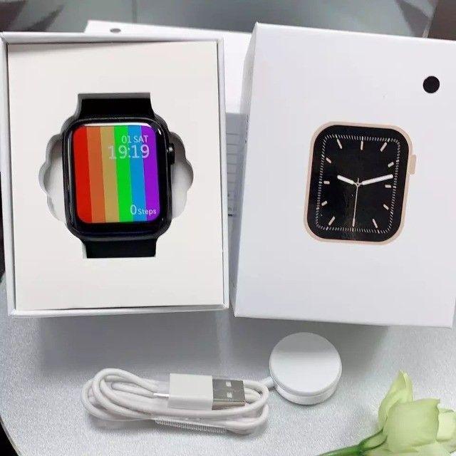Smartwatch Iwo 46 + Pulseira Metálica