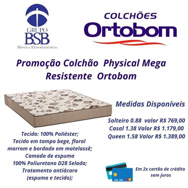 Promoção colchão physical mega resistente ortobom