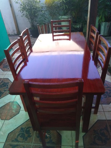 Mesa 6 lugares macacaúba