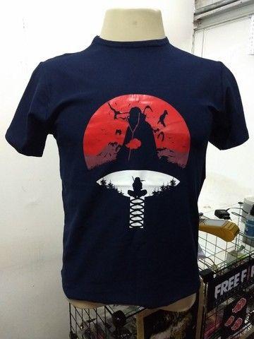 Camisetas Animes (Akatsuki e Clã Uchiha) - Foto 2