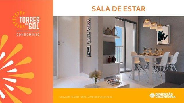 com apartamento de 44m², condomínio torres do sol, 2 quartos - Foto 7