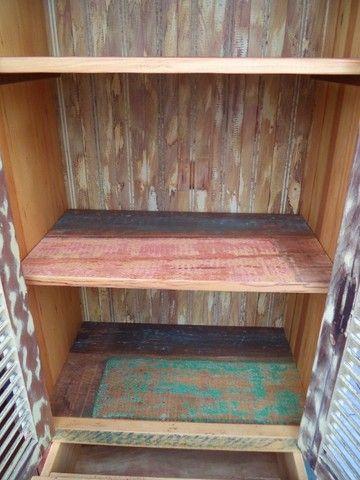 sapateira rustica em madeira de demoliçao - Foto 4