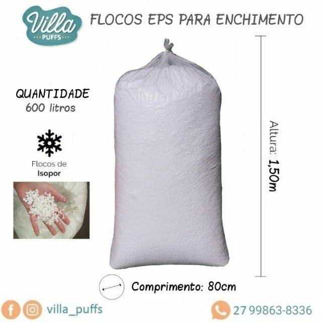 Enchimento para puff, Flocos de EPS 600 Lt - (Isopor á Granel)