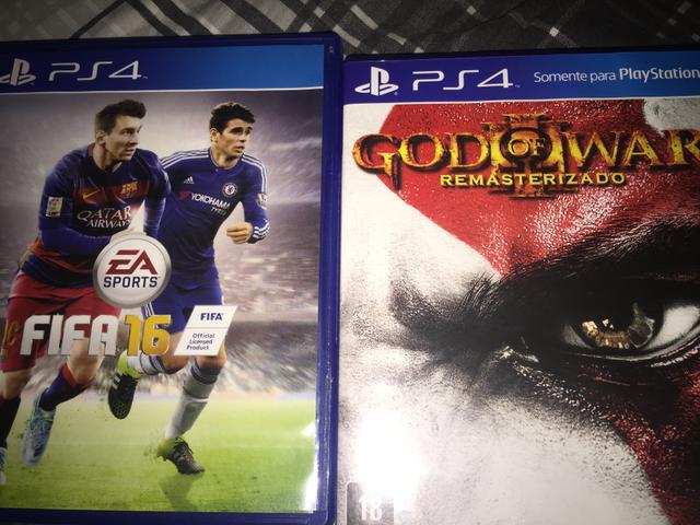 FIFA 16 e God Of War 3 Remasterizado