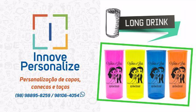Personalize Copos Long Drink